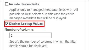 Distinct lookup values