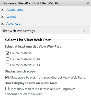 Select list view web part