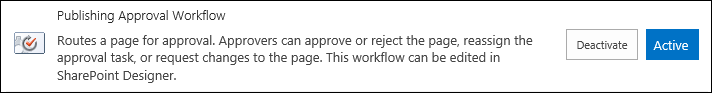 Publishing approval workflow