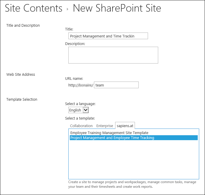 Sharepoint project management and time tracking for Sharepoint project tracking template